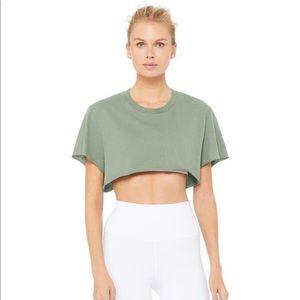NWT Alo Yoga Cropped Short Sleeve Top